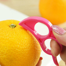 New Arrival Easy Opener Lemon Orange Peeler Slicer Cutter Plastic Kitchen Tools Color Random Drop Shipping HG-1154(China (Mainland))