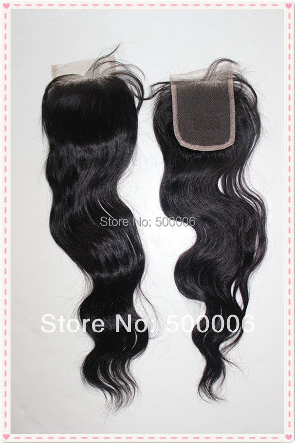 Factory price 4x4 brazilian virgin human hair lace top closure body wave natural color free style Dhl free shipping<br><br>Aliexpress