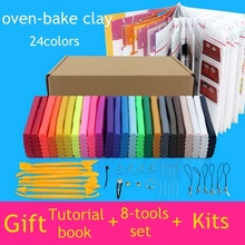 24 colors oven-bake fimo polymer clay with tools DIY toys Early Education brinquedo fashional soft clay  (China (Mainland))