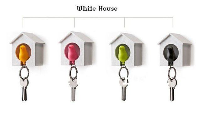 New&Hot selling  plastic Little Bird House and sparrow whistle key chain keyfob,family key holder,drop ship and for freeshipping