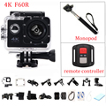 gopro hero 4 style F60R Wifi Action Camera 4K With Remote Controller go pro Mini Diving