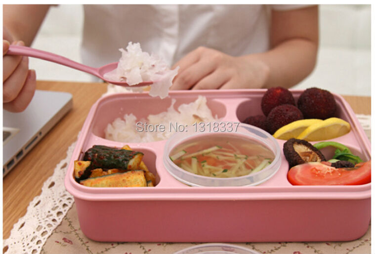 tableware lunch box microwave Transparent Preserving plastic bento container spoon soup cup lunchbox thermos food - Health electronic CO.,Ltd store