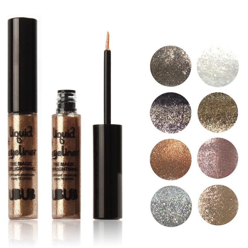 Liquid Eyeliner Glitter Shine Glam Liner Luxe Waterproof 8 Metallic Colors 8828 - NEW SWELL Watchs Store store