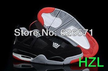 Free shipping Cheap basketball shoes Brand sneakers for men Basketball sneakers for men Super  Perfect new J4  AAA size 40-46