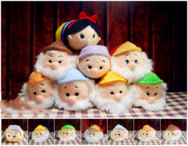 3.5'' Snow White Tsum Plush Toy Seven Dwarfs Screen Cleaner iPhone Juguetes