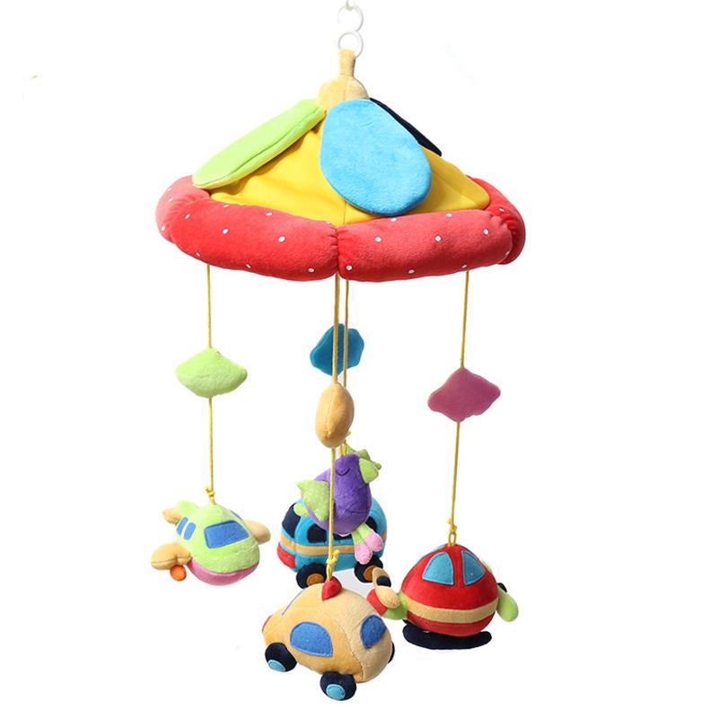 0-24m The Music Box Music Plush Animal Rotating Bed Bell Baby Mobile Crib Baby Toys For Newborns Baby Toys WJ335(China (Mainland))