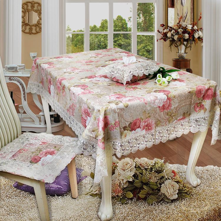 Fashion fabric lace tablecloth chair covers dining table cloth fashion table cloth luxury tablecloth coffee table customize(China (Mainland))