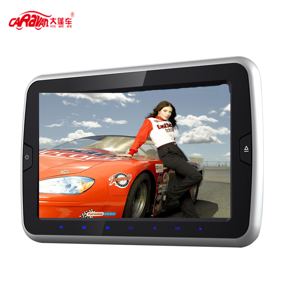 NEW Full 9 inch HD LCD Screen Portable Car Headrest DVD Monitor Player 800*480 Support USB/HDMI/RCA/IR/FM Game Remote(China (Mainland))