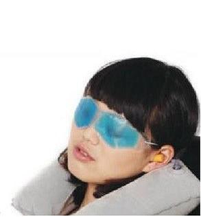 Travel Inflating Neck Pillow + Eye Mask+Ice Eye Mask+ ear plug Set HY36606(China (Mainland))