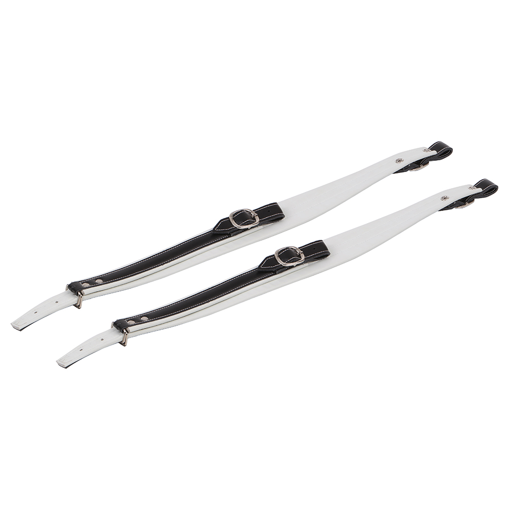 High Quality One Pair Adjustable Soft Accordion Shoulder Straps Black + White Leather(China (Mainland))