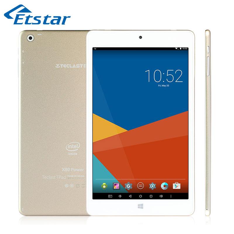 "Original Teclast X80 Power 8"" 7.2mm Uitra Thin Tablet PC Cherry Trail X5 Z8300 Quad Core 32GB ROM Dual OS Windows Android 5.1(Hong Kong)"