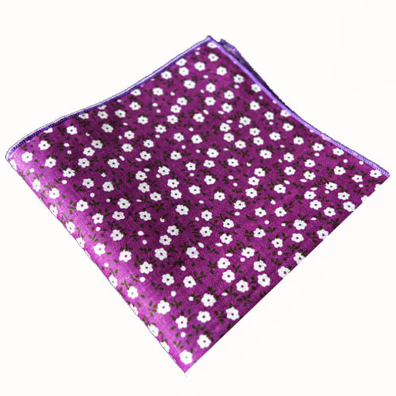 Retail or Wholesale Pastoral Style Pocket Square Small Floral Pattern Handkerchiefs Men's Suit Cotton Hanky 25*25cm Pocket Towel(China (Mainland))