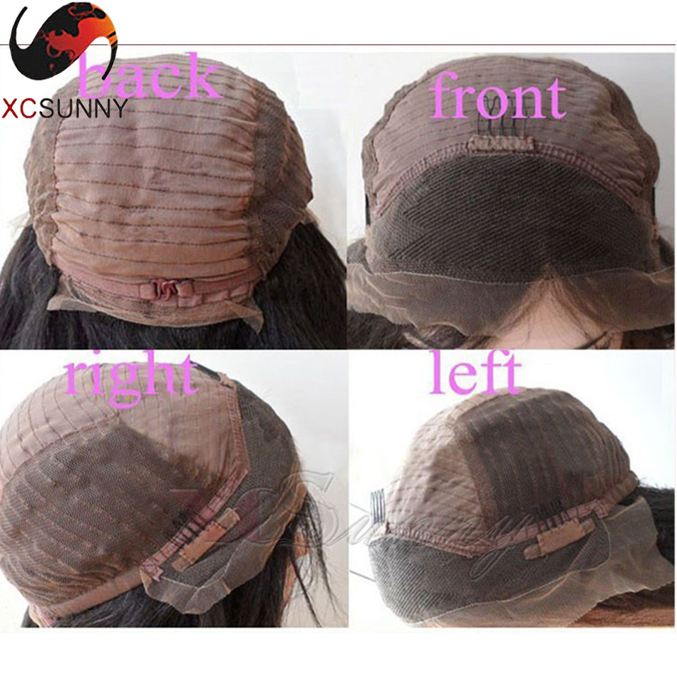 8A Grade Brazilian Ombre Human Hair Lace Front Wig 180 Density Blond Ombre Lace Wig T#1b/#613 Ombre Glueless Full Lace Wigs