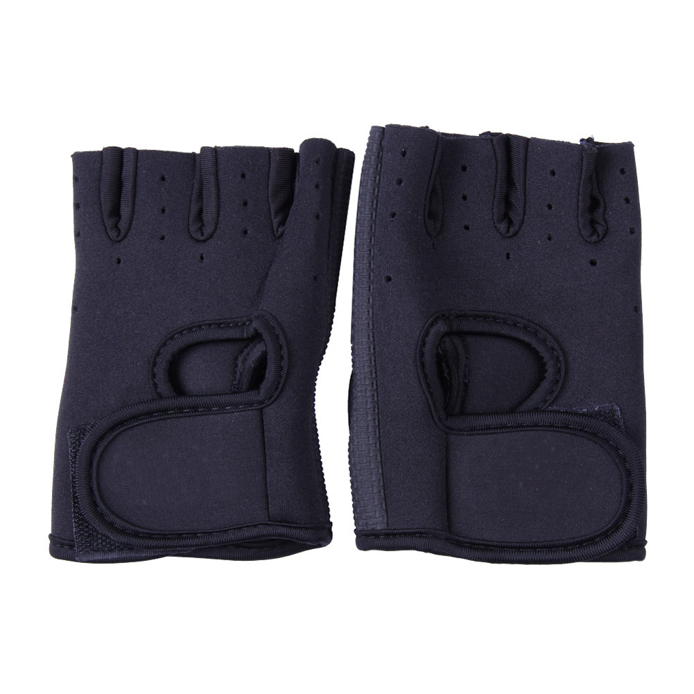 Anti skid Half Finger Exercise Weightlifting Training Gloves Black Pink Size S M L XL