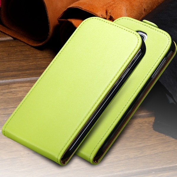 S3 Genuine Leather Case Flip Vertical Cover for Samsung Galaxy SIII S3 I9300 Ultra Slim Premium Mobile Phone Carring Case(China (Mainland))