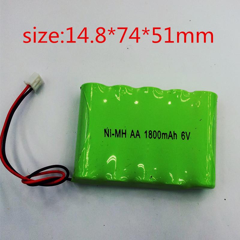 Ni MH Battery AA 6V 1800MAH for electric toy car ni mh aa rc battery 6V(China (Mainland))