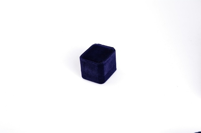 Rounded corners sapphire blue velvet pendant ring box package box necklace bracelet earrings box box flocking jewelry packaging
