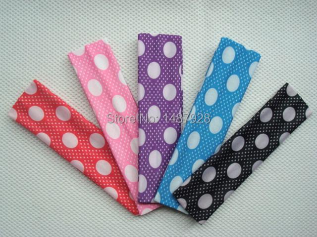Fashion 2015 NEW Small dots Movement Yoga milk silk fabric width of head hair band , headband unisex (5cm) A259(China (Mainland))