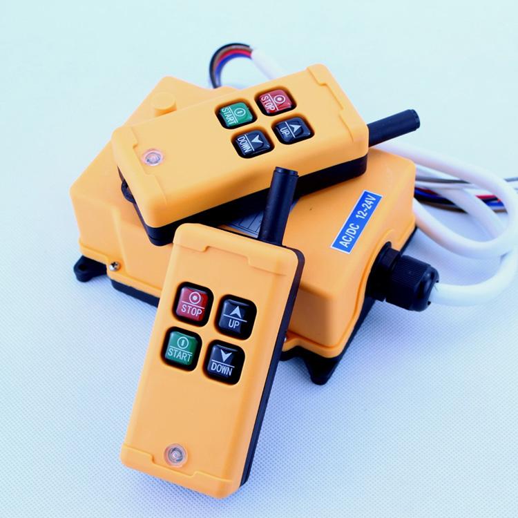 HS-4 Industrial Remote Control 4 keys 1 receiver+ 2 transmitter AC 380V 380VAC 2 transmitter+ 1 receiver<br><br>Aliexpress