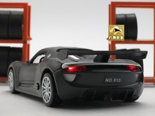 15cm 1:32 Diecast Porsche918 911 SPYDER Model, Kids Toys, Car With Pull Back Function/Music/Light/Openable Door As Gift For Kids(China (Mainland))