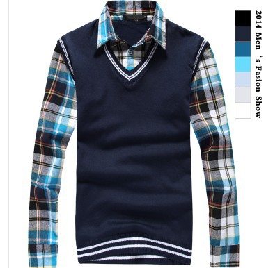 Hot men's autumn turtleneck pullover sweater 100% cotton turtleneck pullover sweater solid color sweater(China (Mainland))