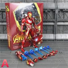 """Homem De Ferro Marvel Thanos SHF MK50 MK85 6 """"Endgame Avengers Action Figure Tesseract MCU Pedras Infinito Guerra KO s. h. figuarts Brinquedos(China)"""