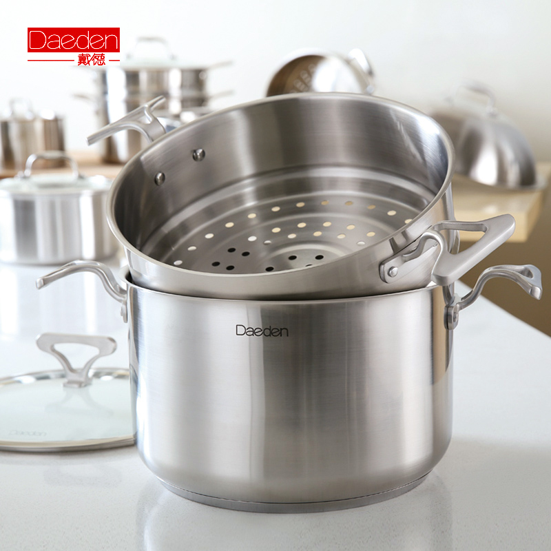 Free shipping Easy home piece set 304 stainless steel cookware set(China (Mainland))