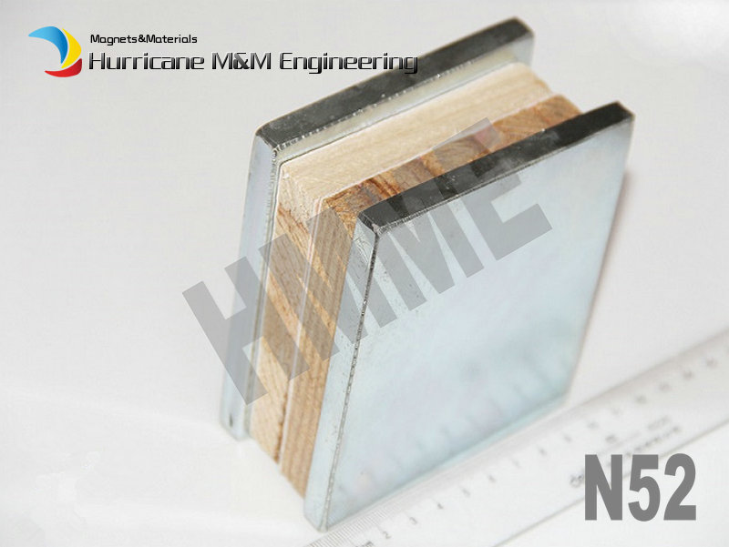 N52 NdFeB Block 100 x 10mm Bar Strong Neodymium Permanent Magnets Rare Earth Industry Magnet