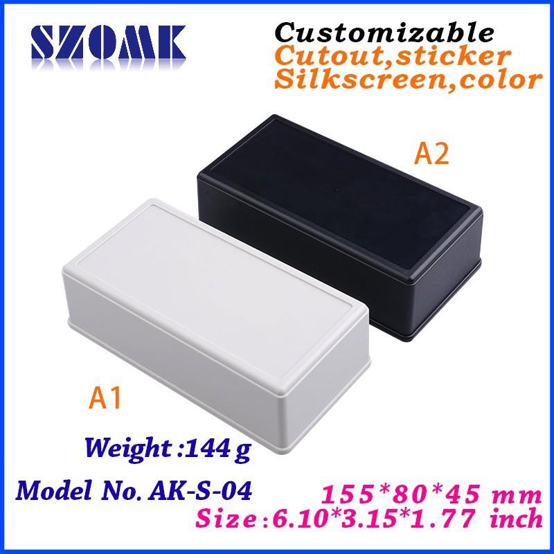 (10 pcs) Desk-top instrument box 155*80* 45 MM 6.1*3.15*1.77 inch  plastic projects case<br><br>Aliexpress