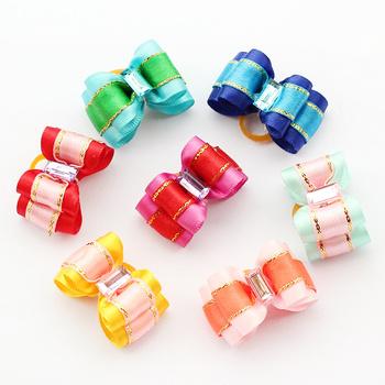 Armi store Handmade Pet Dog Accessories Sapphire Ribbon Bow 22015 Cartoons Modeling Mini Cute Boutique Wholesale