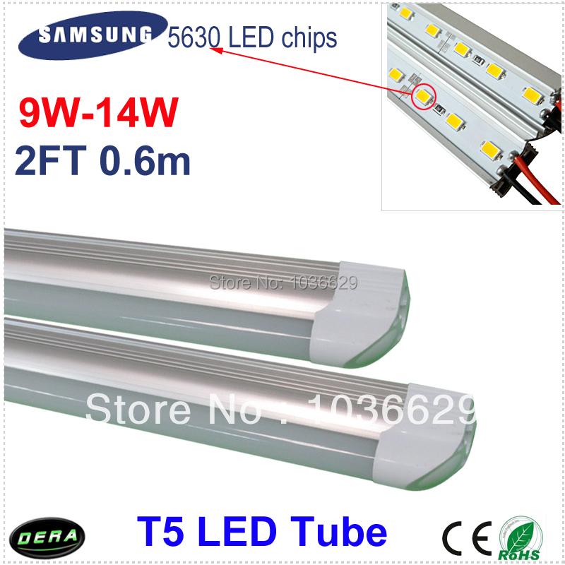 LED Tube t5 600mm /60cm 9w/10W/11W/12W/13W/14W 2ft t5 led tube light energy-saving led t5 SamSung 5630smd T5 lamp(China (Mainland))