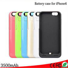 3500mAh External Portable Battery Charger Case Backup Charging Power Bank Cover For iPhone 6 6s Retail and wholesale(China (Mainland))