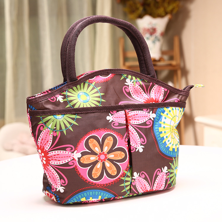 2015 new Korean printing cute fashion bag ladies handbag Brown Bag Lunch Box Canvas bags wholesale(China (Mainland))