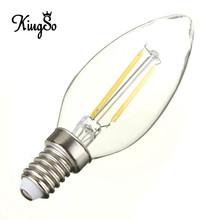 Kingso E12 2W Vintage Edison LED Filament Candle Chandelier Candelabra Light Incandescent Bulb Pure Warm White 210Lumen 110V(China (Mainland))