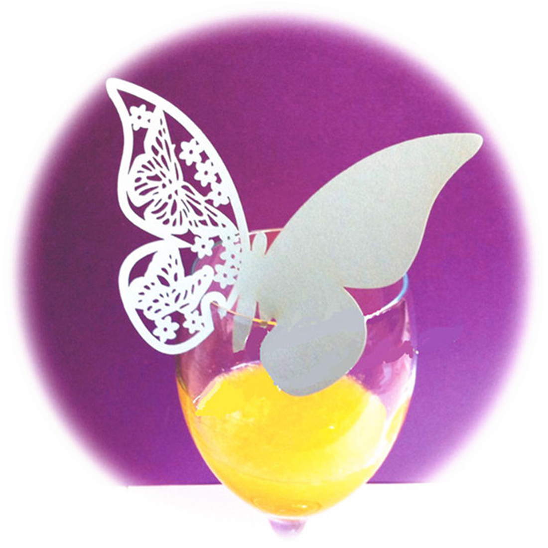 2016High Quality DIY 20Pcs Butterfly Escort Wine Glass Paper Card Wedding 3D Butterfly Place Cards Glass Laser Cut Wedding Party(China (Mainland))