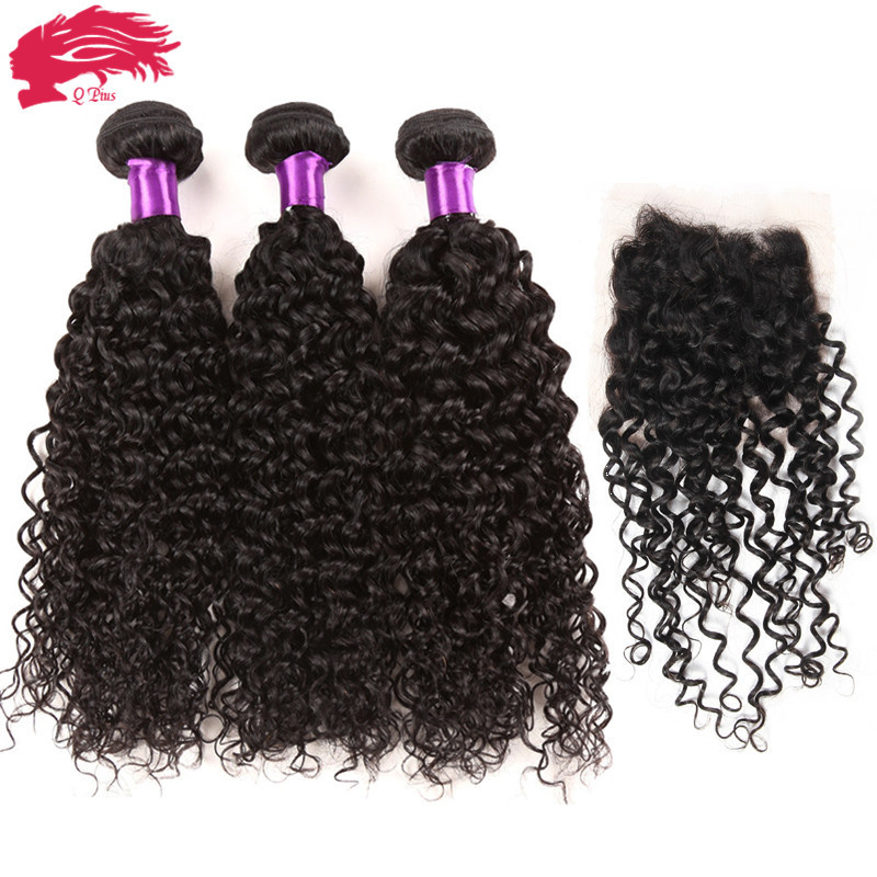 Hot Beauty Hair Rosa Brazilian kinky Curly Virgin Hair 3pcs With Lace Closure Bundles Cheap Unprocessed Remy Human Hair weave