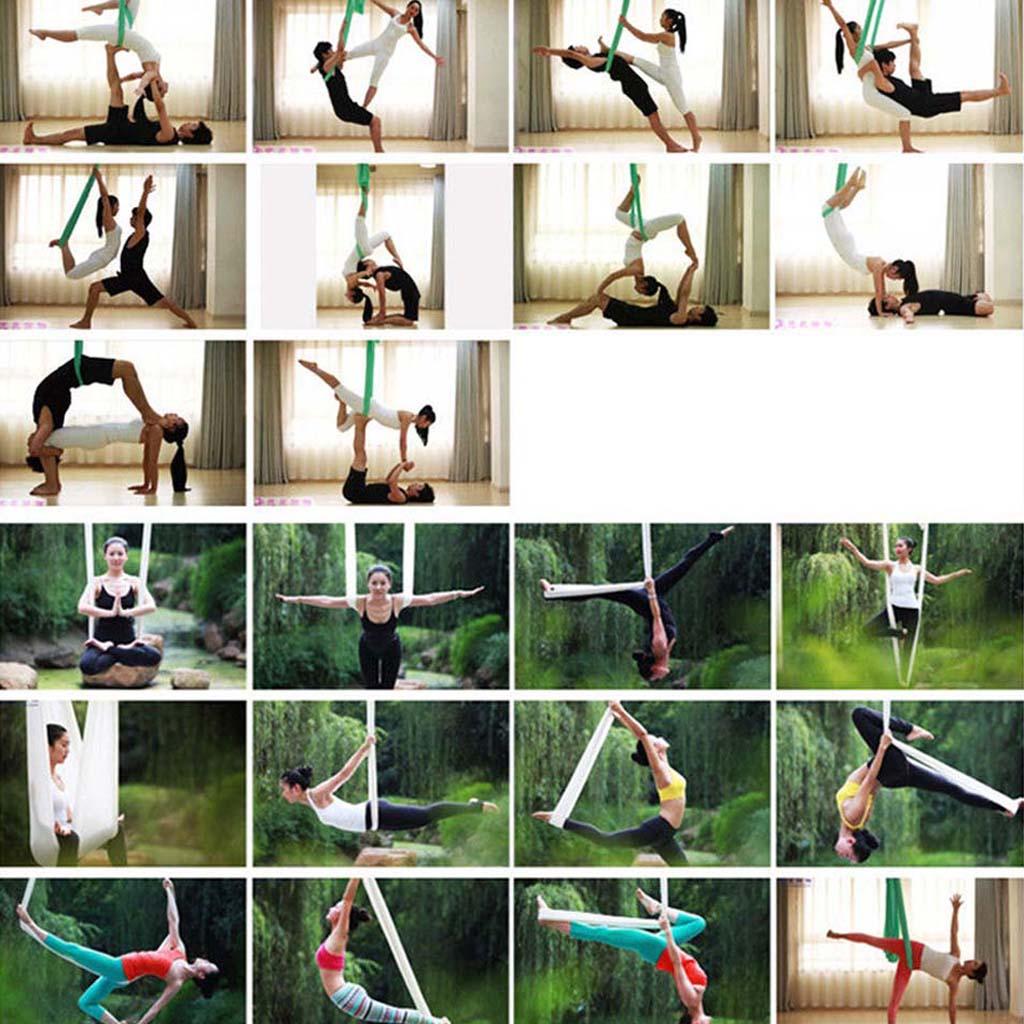 MagiDeal 5 X 2.8M Anti-Gravity Yoga Swing Hammock Aerial Inversion Strap Orange Inversion Tool Anti-Gravity Yoga Swing