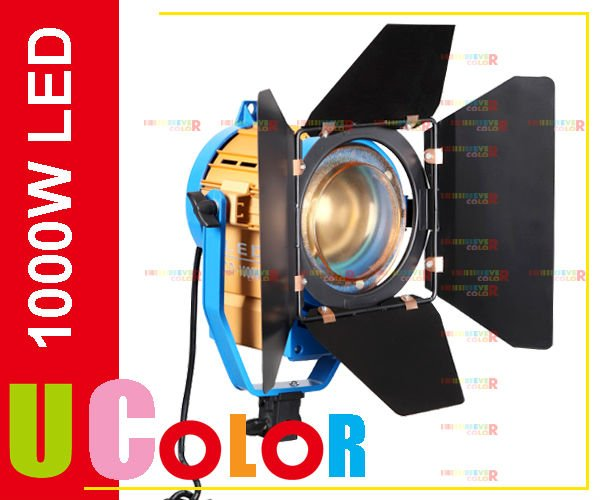 New 1000W LED Studio Fresnel Tungsten Spot Light with 3200K - 5500K Dichroic Filter<br><br>Aliexpress