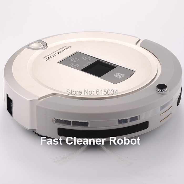 Free Shipping For Singapre Buyer The Best 4 In 1 Multifunctional Intelligent Robot Vacuum Cleaner With 2-way virtual wall(China (Mainland))