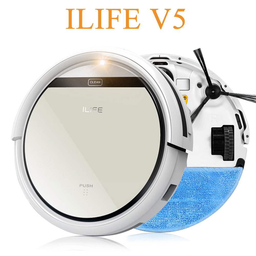 Original ILIFE V5 Robot Vacuum Cleaner Sweep Machine Cleaning Robot Remote Control Wet Moping Pets Hair Cleaning Appliances(China (Mainland))