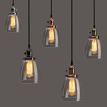 Buy Lamp Cover E27 2M Retro Vintage Industrial Coffee House Glass Cover Ceiling Pendant Lamp Chandelier Light Lamp Shade Fixture for $30.39 in AliExpress store