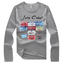 Free shipping Original Unique Design Mens T shirts long sleeve Casual Slim M,L,XL,XXL,3XL,4XL