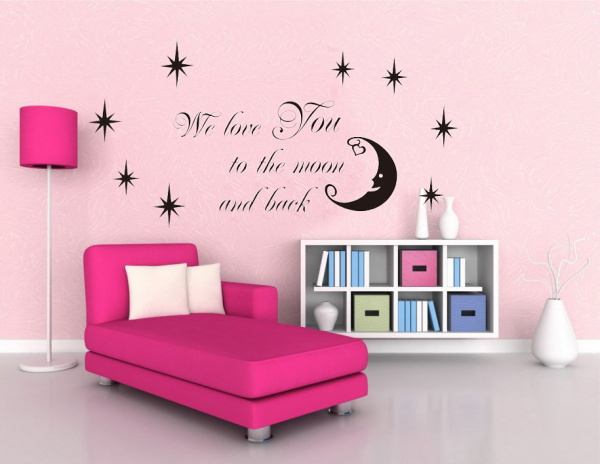 Http Www Aliexpress Com Item Moon Stars Vinyl Wall Stickers Home Decor Wer Love You To The Moon And Back Quote 32236738504 Html