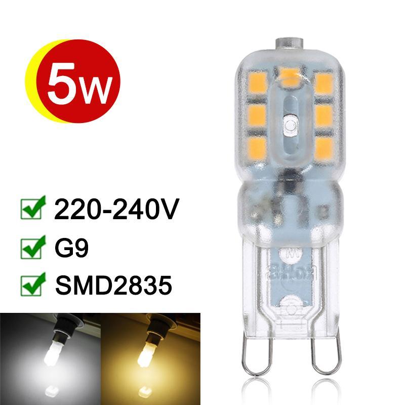 Lampadas LED G9 Lamp 5W 220V 240V SMD2835 G9 LED Bulbs 360 Degree Lighting High Transmittance Warm/Cold White T<br><br>Aliexpress
