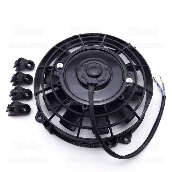 12V 80W Performance Oil Cooler Water Cooler Radiator Cooling Fan for Chinese Quad ATV UTV Dirt Pit Bike Go Kart Buggy Motorcycle(China (Mainland))