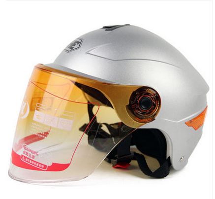 CC#11 Free Shipping YH-357-K portable-type Half Face Scooter Helm Moto Motorcycle Matt Silver Helmet & UV Lens Adult For Summer(China (Mainland))