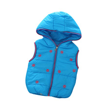 2016 Casual Girl Vests Coat Fashion Baby Outerwear Girls Jacket Children's Clothing Thick Hooded Kid Vest Coats Waistcoats 18