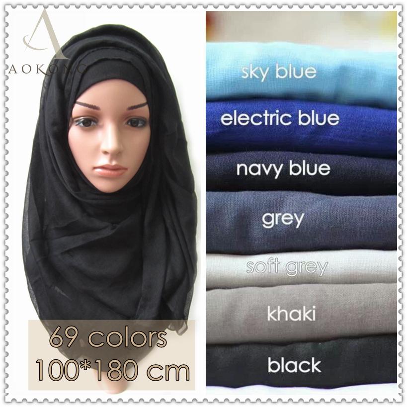 10pcs/lot islamic muslim hijab scarf solid plain viscose hijabs fashion maxi shawls foulard women long scarves bandana wraps(China (Mainland))
