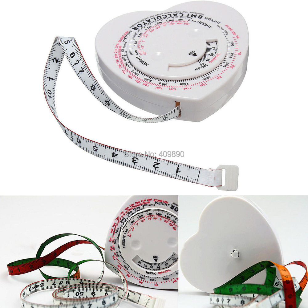 Lot Heart Shape Bmi Body Mass Index Tape Measure &calculator Muscle Diet  Weight Loss Popular Muscle