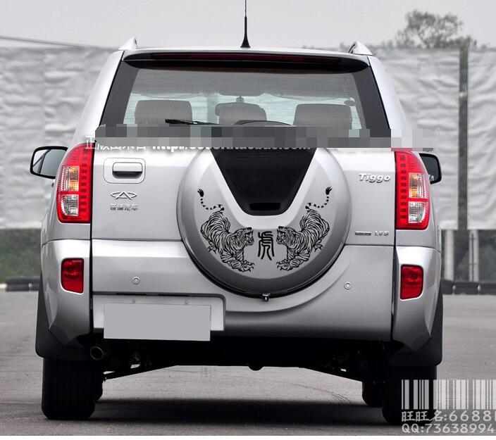 2014 new Chery Tiggo 3 car stickers tiger sticker backing spare tire cover decorative stickers modified garland Magic Speed S2(China (Mainland))